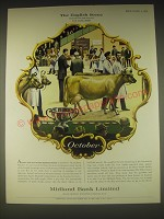 1962 Midland Bank Ad - John Leigh Pemberton The Dairy Show