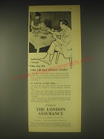 1962 London Assurance Ad - One day his cake will have Thirteen Candles
