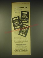 1962 HSBC Ad - Passports to Eastern Trade