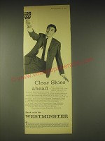 1962 Westminster Bank Ad - Clear skies ahead