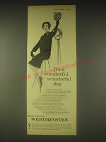 1962 Westminster Bank Ad - It's a wonderful, wonderful day
