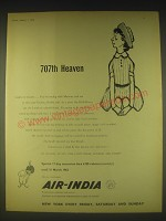1962 Air-India Airline Ad - 707th Heaven