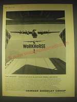 1962 Hawker Siddeley Group Ad - Workhorse The Argosy - maid-of-all-work