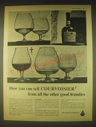 1962 Courvoisier Cognac Ad - How you can tell Courvoisier from all the other