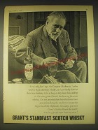 1962 Grant's Standfast Scotch Ad - I was only four says Sir Compton Mackenzie