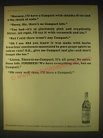 1962 Campari Aperitif Ad - Barman, I'll have a Campari with chunks of ice