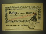1962 Haig Scotch Ad - More people enjoy it