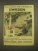 1962 Swedish National Travel Association Ad - Next summer take a holiday