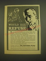 1962 The Salvation Army Ad - Would you refuse