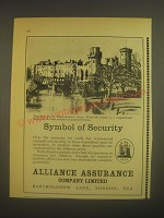 1962 Alliance Assurance Company Limited Ad - Standing Above Shakespeare's Avon