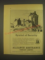 1962 Alliance Assurance Company Limited Ad - Eilean Donan, Ross-shire