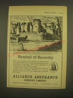 1962 Alliance Assurance Company Limited Ad - Caerphilly Castle