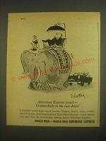 1962 American Express Travellers Cheques Ad - Timothy Birdsall cartoon