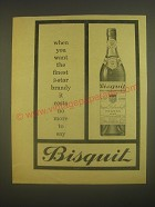 1962 Bisquit Cognac Ad - When you want the finest 3-star brandy