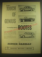 1960 Singer Gazelle Saloon, Convertible and Estate Car Advertisement
