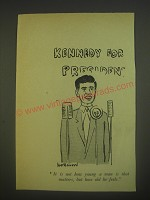 1960 Cartoon by Bernard Hollowood - Kennedy for President