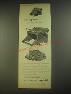 1958 Imperial 66 Typewriter Ad - Only Imperial is completely unit-built