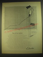 1958 Clarks Shoes Ad - Top of the ladder