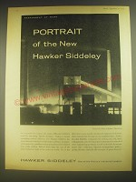 1958 Hawker Siddeley Advertisement - Portrait of the new Hawker Siddeley