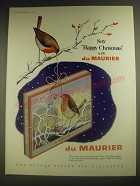 1958 du Maurier Cigarettes Ad - Say Happy Christmas with du Maurier