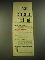 1958 Abbey National Building Society Ad - That certain feeling
