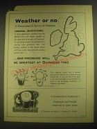 1958 Guinness Beer Ad - Weather or no A meteorological survey of Guinness