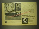 1958 MG Magnette Ad - I have never driven a car with less vice than the