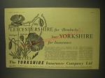 1958 Yorkshire Insurance Ad - Leicestershire for Headache