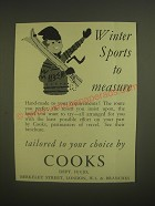1958 Cooks Travel Ad - Winter sports to measure