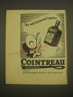 1958 Cointreau Liqueur Ad - The well balanced Liqueur