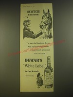 1955 Dewar's White Label Scotch Ad - Scotch is the drink