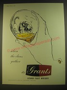 1955 Grants Scotch Ad - when the clans gather it's Grants