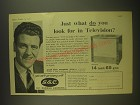 1955 G.E.C. BT1252 Television Ad - Just what do you look for in Television