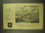 1955 London & Lancashire Insurance Ad - In country or in town