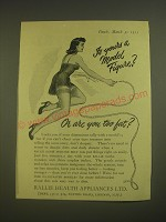1955 Rallie Health Appliances Ad - Is yours a model figure? Or are you too fat?