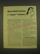1955 Kellogg's All-Bran Cereal Ad - Moody Model becomes a regular vendeuse