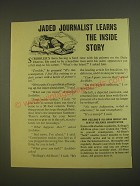 1955 Kellogg's All-Bran Cereal Ad - Jaded journalist learns the inside story
