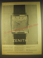1963 Zenith Model Ref.666 Watch Ad - For the time of your life