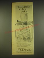 1963 Pierre Cardin Amadis Perfume Ad - Everything her heart desires