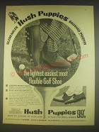 1963 Hush Puppies Shoes Ad - The lightest, easiest, most flexible Golf Shoe