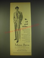 1963 Moss Bros Lightweigh suits Ad - We sell good clothes