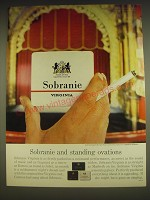 1963 Sobranie Virginia Cigarettes Ad - Sobranie and standing ovations