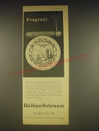 1963 Balkan Sobranie Virginian No. 10 Tobacco Ad - Fragrant