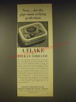 1963 Balkan Sobranie Flake Ad - Now.. For the pipe man seeking perfection