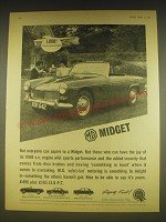 1963 MG Midget Car Ad - Look! They've got an MG