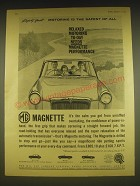 1963 MG Magnette Car Ad - Relaxed motoring to-day needs Magnette performance