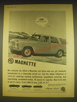 1963 MG Magnette Car Advertisement - Look! They've got an MG