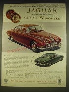 1963 Jaguar 3.4 & 3.8 S Model Cars Advertisement