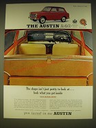 1963 Austin A40 Car Ad - The shape isn't just pretty to look at