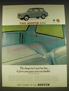 1963 Austin A40 Car Ad - The shape isn't just for fun.. It gives you space